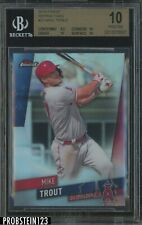 2019 Topps Finest Refractor Mike Trout Angels BGS 10 PRISTINE