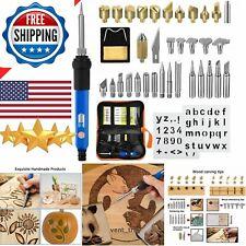 Wood Burning Tool Engraver Set Pen Kit Extra Tips Wood burner Hobby Professional