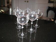 """RIEDEL """"REFLECTIONS"""" PATTERN WATER GOBLETD 7 3/4"""" (SET OF SIX (6)"""