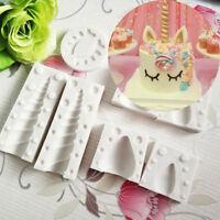 3D Unicorn Ear Eye Silicone Mold Fondant Cake Sugarcraft Mould Baking Tool Decor