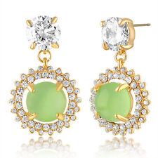 Swarovski Cocktail Apple Martini Halo Cluster Drop Earrings Wedding-Gift