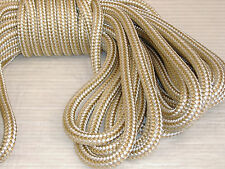 "3/4""x 100 Feet DOUBLE BRAID NYLON ROPE Gold/White anchor dock pull tow"