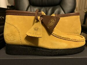🔴 Clarks Wu-Wear Shoes Size 10.5 Wu-Tang Wallabees Yellow Black Rare Size