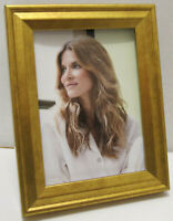 """Gold Wood Picture Photo Frame 2.5"""" X 3.5"""" Or 2""""X3"""" with Mat  NEW"""
