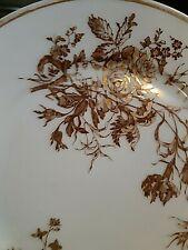 """RARE 10 Haviland Limoges France Golden Rose Gold Gilt/Trim 5"""" Saucers 1879-1889"""
