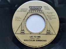 "MALCOLM SIMMONS - Lie to Me / Just a Feeling '84 PRIVATE BLUES 7"" Grandville"