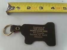 vintage Mobile Home Park #1 leather keychain fob ring key chain trailer park