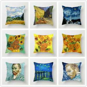 Van Gogh Oil Painting Cushion Cover Sofa Home Decorative Pillow Covers