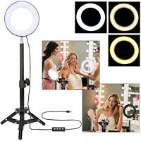 "ZOMEI 6"" LED Selfie Ring Light with Tripod Stand Smart Phone Holder for Live"