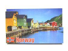 Lofoten Inselgruppe 3D Holz Souvenir Magnet Norway Norwegen