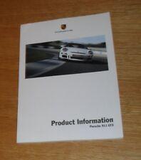 Porsche 911 GT3 Product Information Brochure - Rare 997 2005-2006