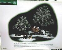 "Dept. 56 Village Accessories ""Woodland Landscape Set"" #52989 New In Box"