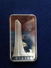 1973 Switzerland Mint Bank of Chicago SWISS-21V Silver Art Bar E4452