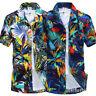 Summer Men's Floral Casual Shirts Hawaiian Short Sleeve Beach Tops Dress T-Shirt