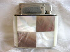VINTAGE ART DECO GEOMETRIC WHITE TAUPE MOTHER OF PEARL KARL WIEDEN TORCH LIGHTER