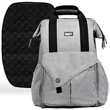 Diaper Bag Backpack with Stroller Straps, Baby Changing Mat & 13 Pockets