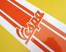 Logo Vespa Scooter raya de la etiqueta engomada PIAGGIO Metálico Naranja Brillante 100cm X 7cm