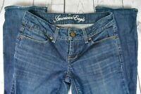 American Eagle Jeans Straight 77 Stretch Medium Wash Womens Size 0 Reg (26 x 32)