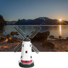 2 x LED solarbetriebene Leuchtturm Statue rotierenden Hof Außenbeleuchtun G D2O1