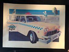 Vtg California Ocean Pacific OP Surf Cab Surfboard Advertising Promo Poster 80s