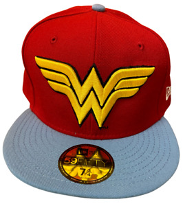 New Era 59Fifty Wonder Woman Hat Fitted Cap Yellow Logo Diana Prince Amazonian