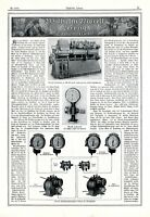 Tachometer Morell Leipzig XL Reklame 1917 Umdrehungsanzeiger Werbung Schiffsbau