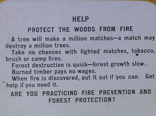 Help Protect the Woods from Fire, US Forest Service, Magic Lantern Glass Slide