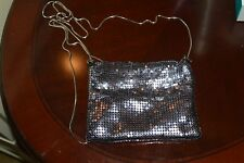 GUERLAIN MAKE-UP COSMETIC CUTE METAL NET BAG WITH SHOULDER STRAP NEW