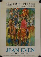 Affiche JEAN EVEN 1984 Exposition Galerie Triade - Barbizon