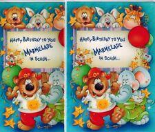 Cumpleaños Niños 2 Tarjetas de felicitación Happy Birthday to Usted Mermelada EN
