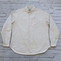 Gitman Bros Vintage Stars L/S Shirt Size XL Made in USA