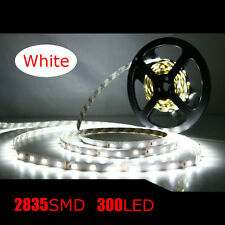 Non-Waterproof 5M 2835 SMD 300 LED Flexible Strip Light Lamp Cool White 6000K