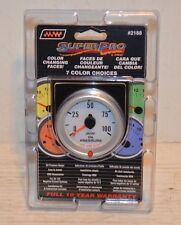 NEW SUPER PRO OIL PRESSURE GAUGE 7 COLOR CHANGING RACE CAR RAT ROD CHEVY FORD