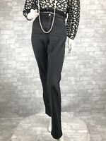 St. John Runway Auth Gray Cotton Jeans Pants Slacks Pockets 8 US 44 IT M