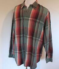 Men's XL Tommy Bahama Plaid Linen Blend Button Front Shirt