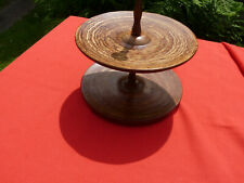 Very Unusual Wooden  2 Tier Cake Stand