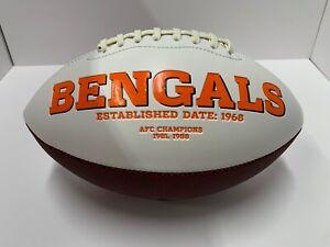 Cincinnati Bengals Stitched Logo Full Size NFL Football W/ Box White Panel