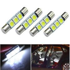 4 X White 31mm 3-SMD 5050 LED Bulb For Car Sun Visor Vanity Mirror Fuse Light