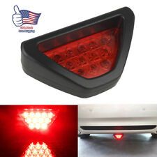 Universal 3rd F1 12 Led Strobe Rear Bumper Tail Brake Stop Light Red Fog Lamps
