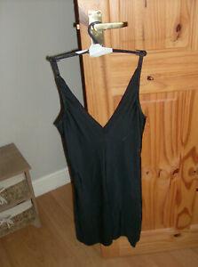 George (Sample) Ladies Black Rose Jacquard Slip Body Shaper UK Size 12 New