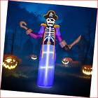 Rocinha 8ft Halloween Decorations Inflatable Pirate Skeleton Outdoor Indoor Yard
