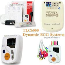 CE 12 canali ECG ECG Holter, 48 H Frequenza Cardiaca Monitoraggio, OLED software libero