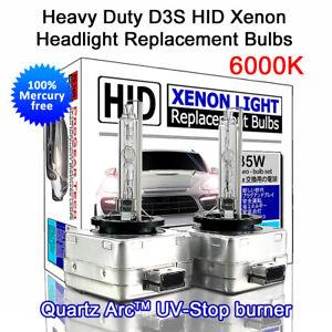 D3S 6000K Heavy Duty OEM HID Headlight Bulbs Land Rover Volvo Jeep Porsche Ford