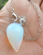 Power Reiki Healing Amulet Opal Stone Pendulum Pendant Energy