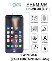 """2 X Nuglas Protection D'Écran Premium en Verre Trempé pour Apple Iphone XR 6.1 """""""
