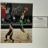 Autographed/Signed JAYSON TATUM Boston Celtics 8x10 Photo Fanatics COA Auto #2