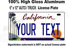 California, Custom, Personalized, State License Plate, any text - AUTO tag, CA