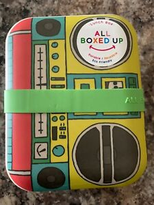 Bento Lunch Box All Boxed Up Eco Friendly Food Storage Container Stereo Radio