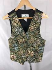 LL Bean Women's Vintage Floral Tapestry Vest Size 10 Free US Shipping (AA)