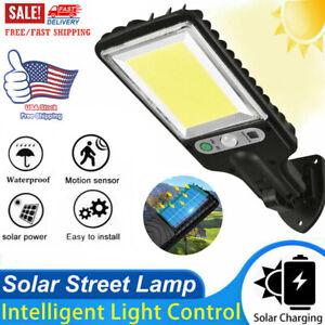 1200W Outdoor Solar Street Wall Light Sensor PIR LED Lamp Security Yard Lamp USA